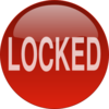 Locked Button Clip Art