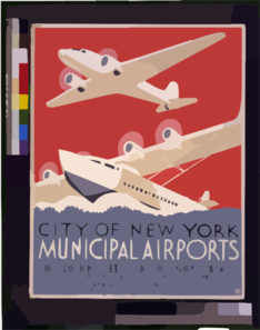 City Of New York Municipal Airports No. 1 Floyd Bennett Field - No. 2 North Beach. Clip Art
