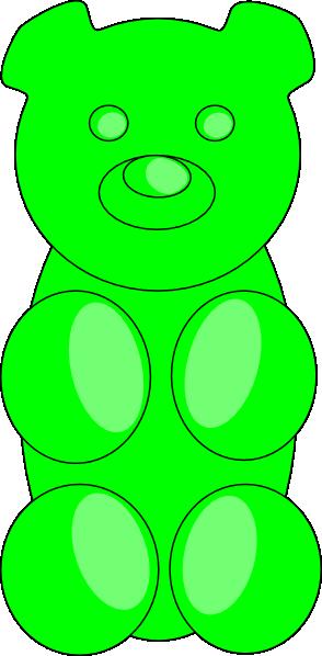 Gummy Bears Drawing Green gummy bear clip art