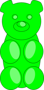 Green Gummy Bear Clip Art