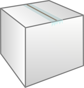 Clipart Picture Illustration of a Blank White Text Box ...