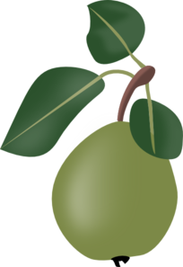 Stew Pear With Leafs Clip Art