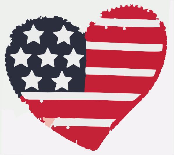 heart flag softened clip art at clkercom vector clip