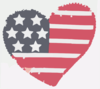 Heart Flag Softened Clip Art