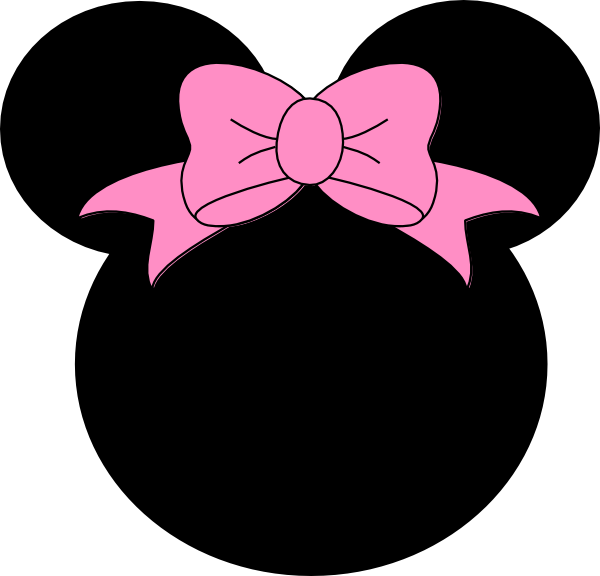 Pink Bow Minnie Mouse Clip Art at Clker.com - vector clip art online ...