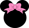 Pink Bow Minnie Mouse Clip Art