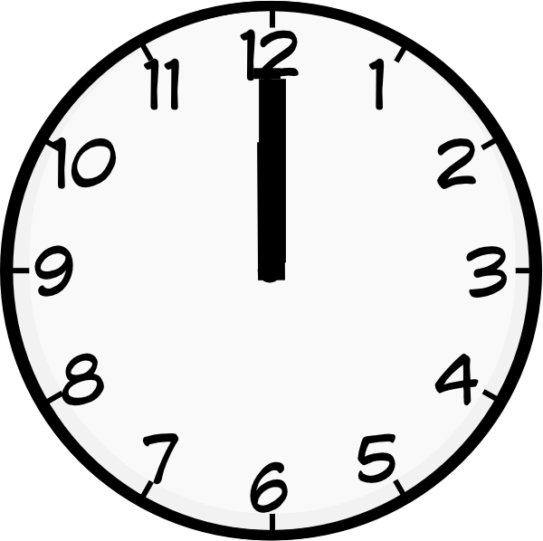 clipart 8 o'clock - photo #48