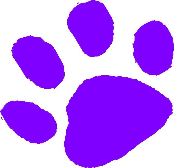 Purple Paw Print Clip Art at Clker.com - vector clip art online ...