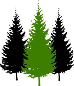 3pinetrees Clip Art