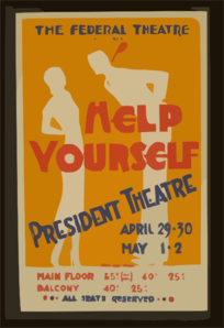 The Federal Theatre Div. Of W.p.a. Presents  Help Yourself  Clip Art