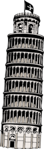 Leaning Tower Of Pisa Clip Art