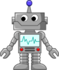 Robot Cartoon  Clip Art
