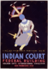 Indian Court, Federal Building, Golden Gate International Exposition, San Francisco, 1939 Apache Devil Dancer From An Indian Painting, Arizona / Siegriest. Clip Art