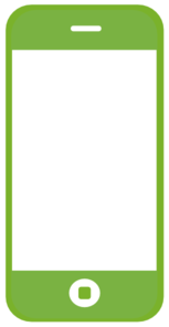 Green Smartphone Simple Clip Art