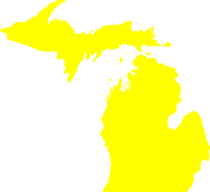 Yellowmichiganmap Clip Art