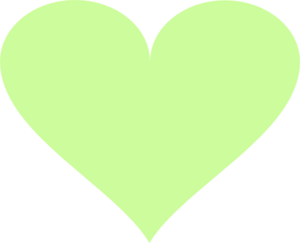 Light Green Heart Clip Art