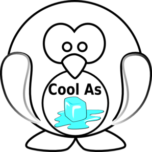 Cool As Ice Penquin Clip Art