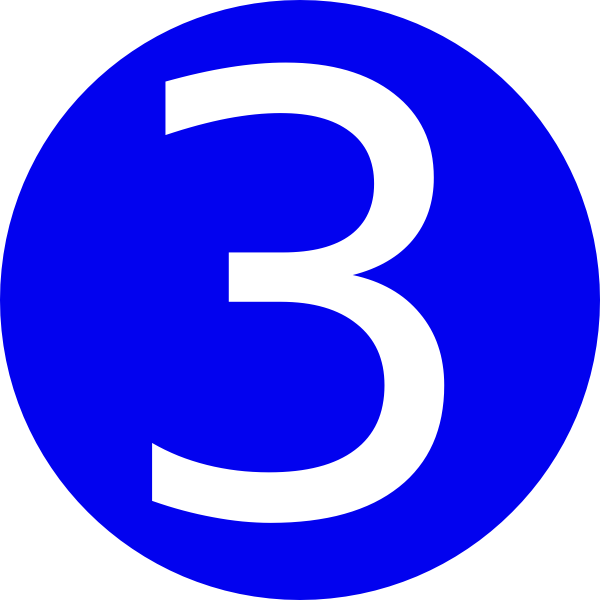 blue rounded with number 3 clip art at clker com vector clip