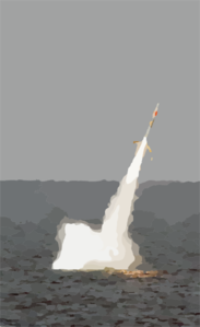 Uss Florida Launches A Tomahawk Cruise Missile During Giant Shadow In The Waters Off The Coast Of The Bahamas Clip Art