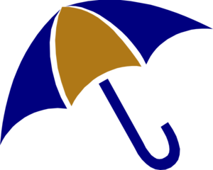 Umbrella Blue And Gold Clip Art