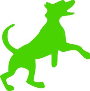Green Dog Clip Art