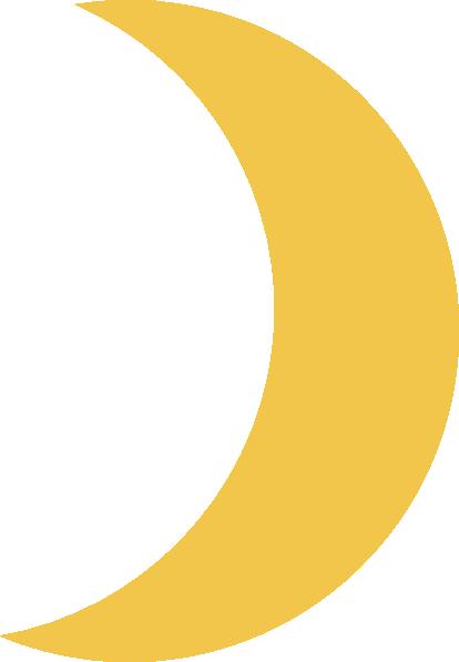 Crescent Moon Gold Clip Art At Clker Vector Clip Art Online