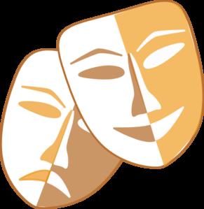 theatre masks clip art at clker com vector clip art online rh clker com drama masks clip art free Drama Symbols Clip Art