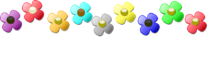 Flowers Colors People Clip Art
