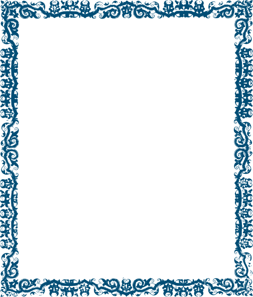 Cute Blue Border Designs Blue Page Border Designs