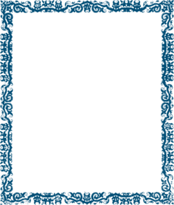 light blue border design clip art