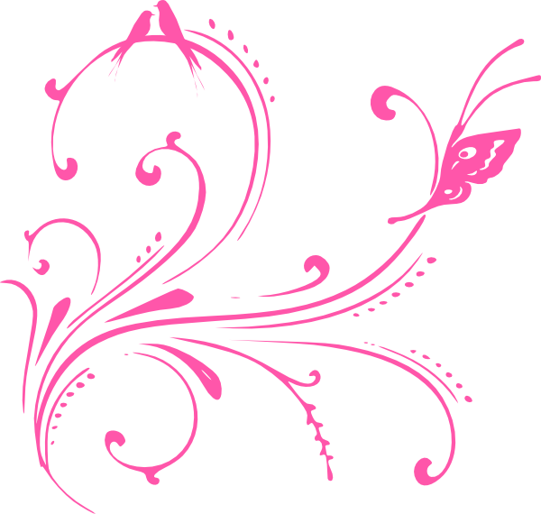 Swirl Birds (butterfly Princess) Clip Art at Clker.com - vector clip ...