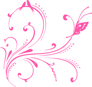 Pink Swirl Birds Butterfly Princess Clip Art At Clker