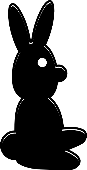 clipart image bunny silhouette - photo #47