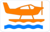 Orange Sea Plane Clip Art