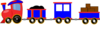 Choo Choo Train With Cars Clip Art