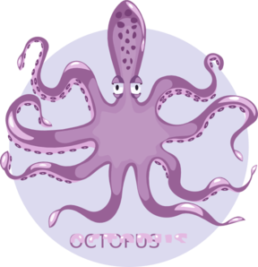 Purple Octopus Clip Art
