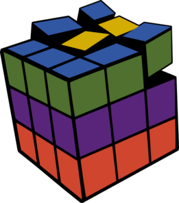 Rubiks Cube 3d Colored Clip Art