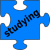 Studying Puzzle Piece Clip Art