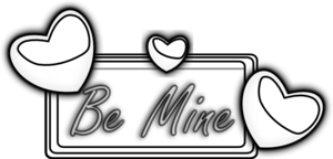 Be Mine Outline Clip Art