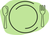 Light Green Plate Clip Art