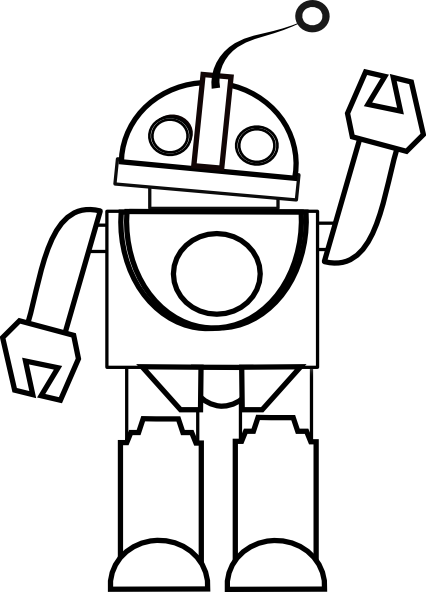 Coloring Book Art Clip : Coloring book robot clip art at clker vector royalty free public domain