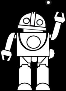 Coloring Book Robot Clip Art