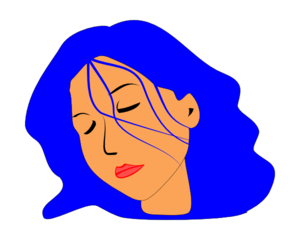 Sleeping Woman Clip Art