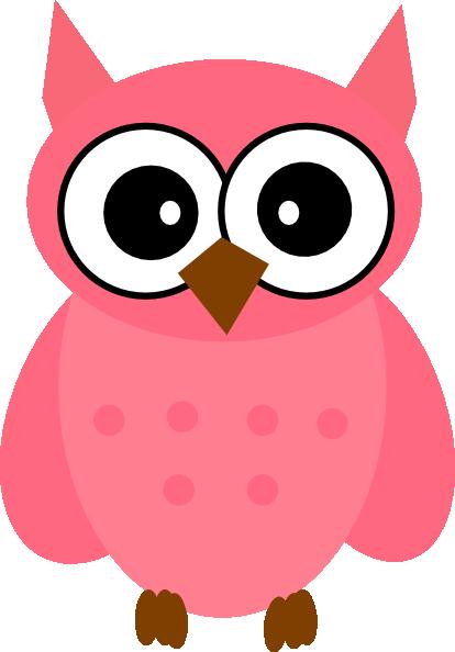 owl pink clip art at clkercom vector clip art online