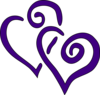 Big  Purple Hearts Clip Art