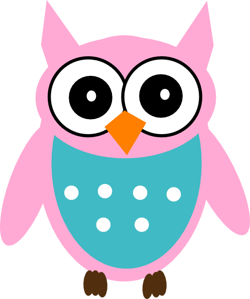 Pink owl clip art at vector clip art online for A cartoon owl