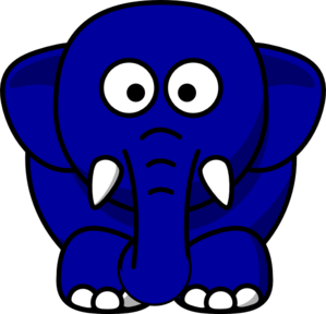 Kansas Blue Elephant Clip Art
