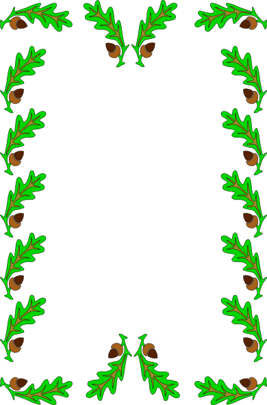 Holly Leaves Border clip art