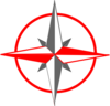 Red Gray Compass  2 Clip Art