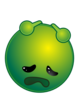 Smiley Green Align Depressed No Shadow Clip Art